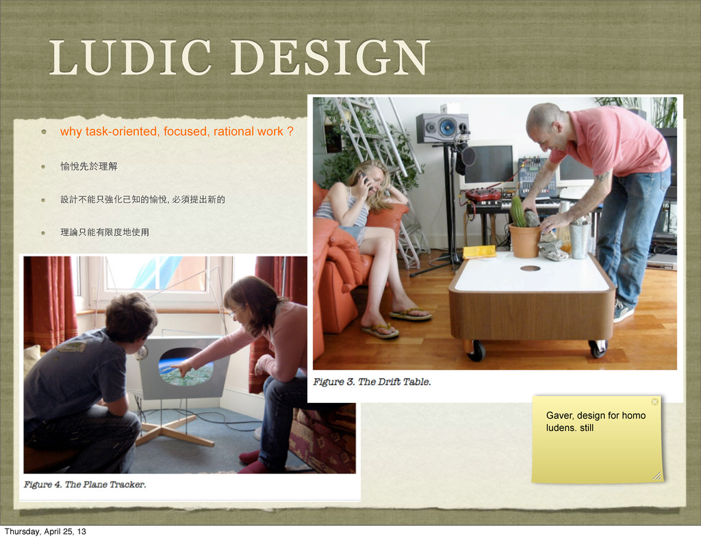 LUDIC DESIGN why task-oriented, focused, ration...