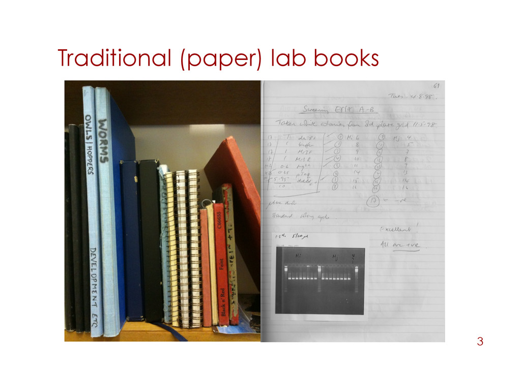 Traditional (paper) lab books 3