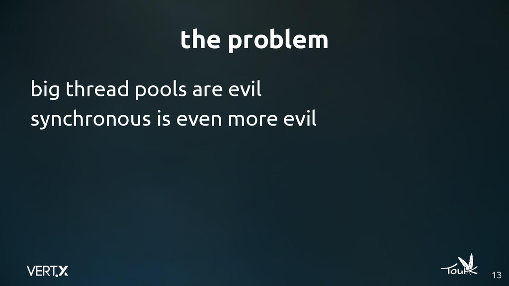 the problem big thread pools are evil synchrono...