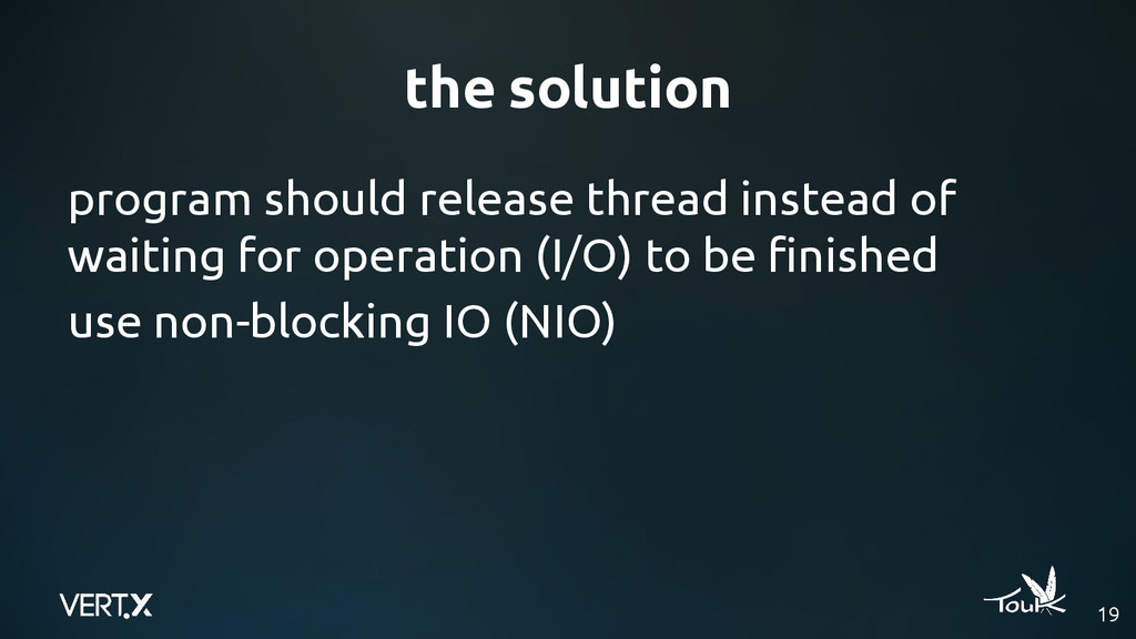 the solution 19 program should release thread i...