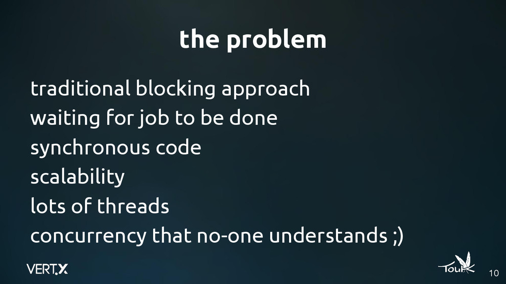 the problem traditional blocking approach waiti...