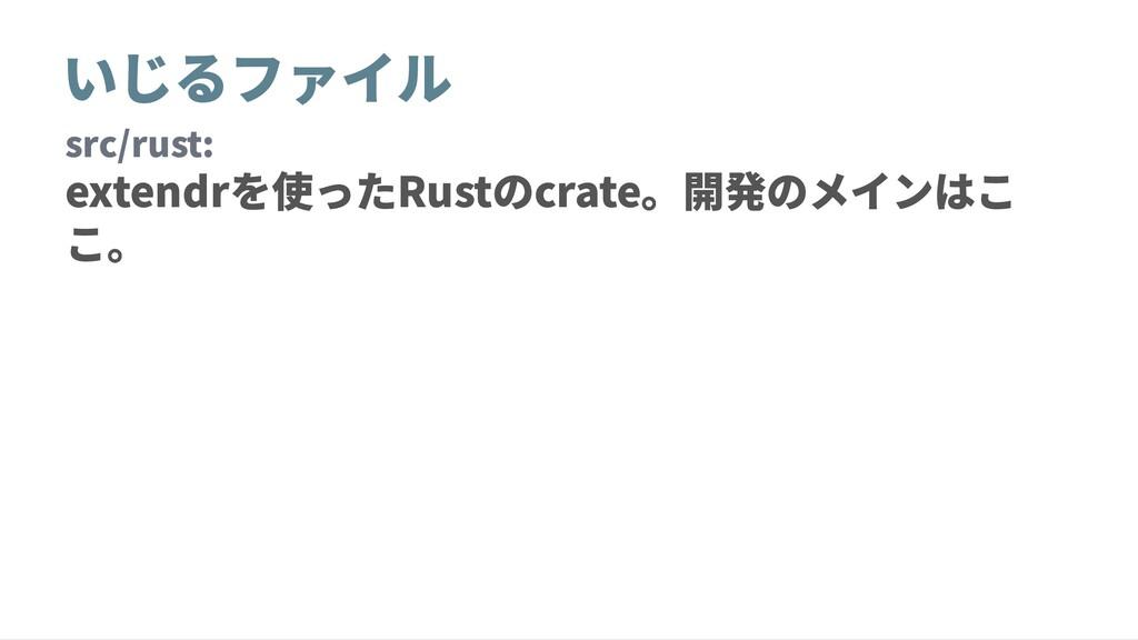 いじるファイル src/rust: extendrを使ったRustのcrate。開発のメインは...
