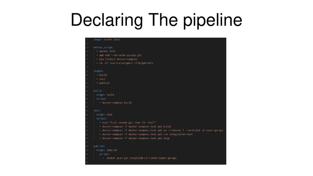 Declaring The pipeline
