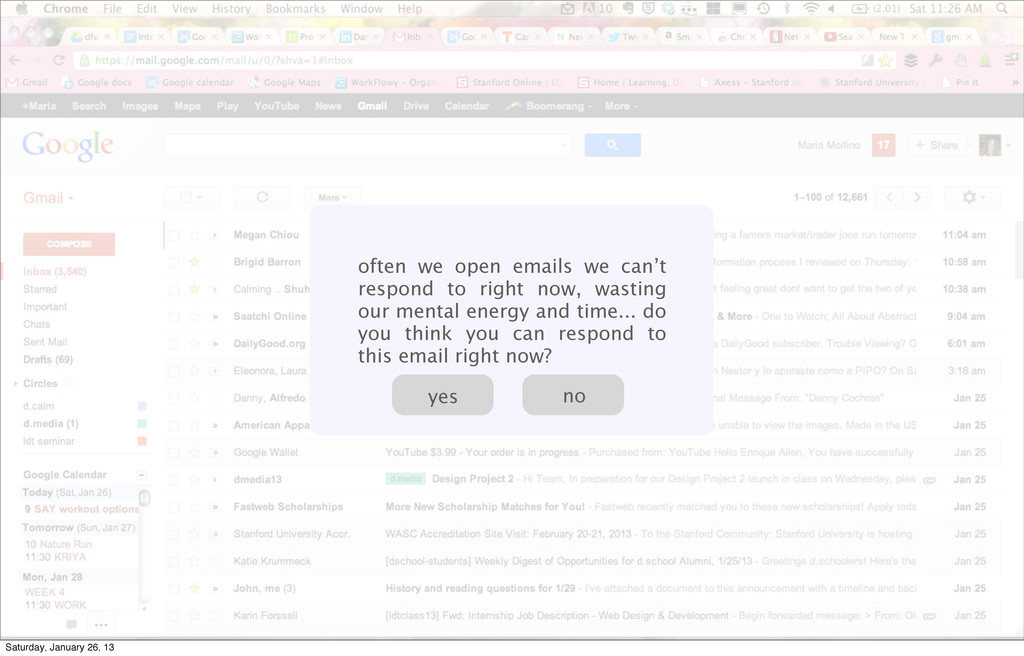 often we open emails we can't respond to right ...