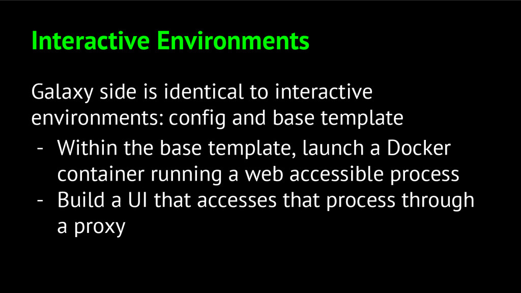 Interactive Environments Galaxy side is identic...
