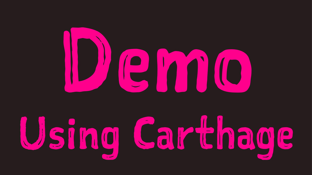 Demo Using Carthage
