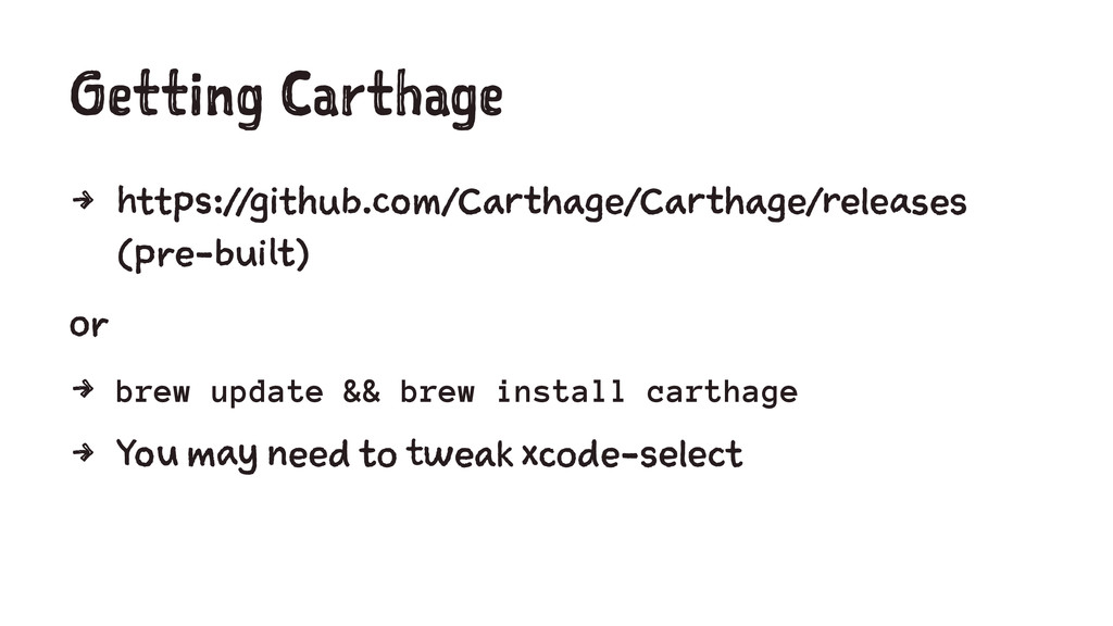 Getting Carthage 4 https://github.com/Carthage/...
