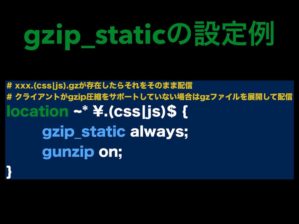 gzip_staticͷઃఆྫ YYY DTTcKT H[͕ଘࡏͨ͠ΒͦΕΛͦͷ··...