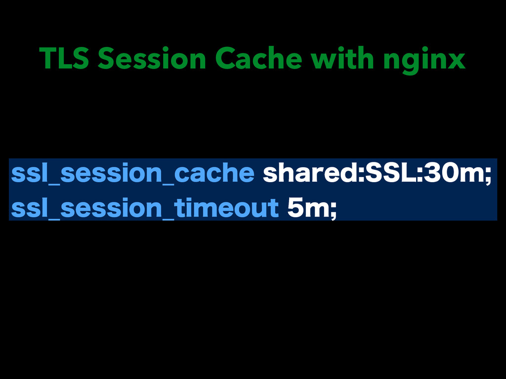 TLS Session Cache with nginx TTM@TFTTJPO@DBDIF...