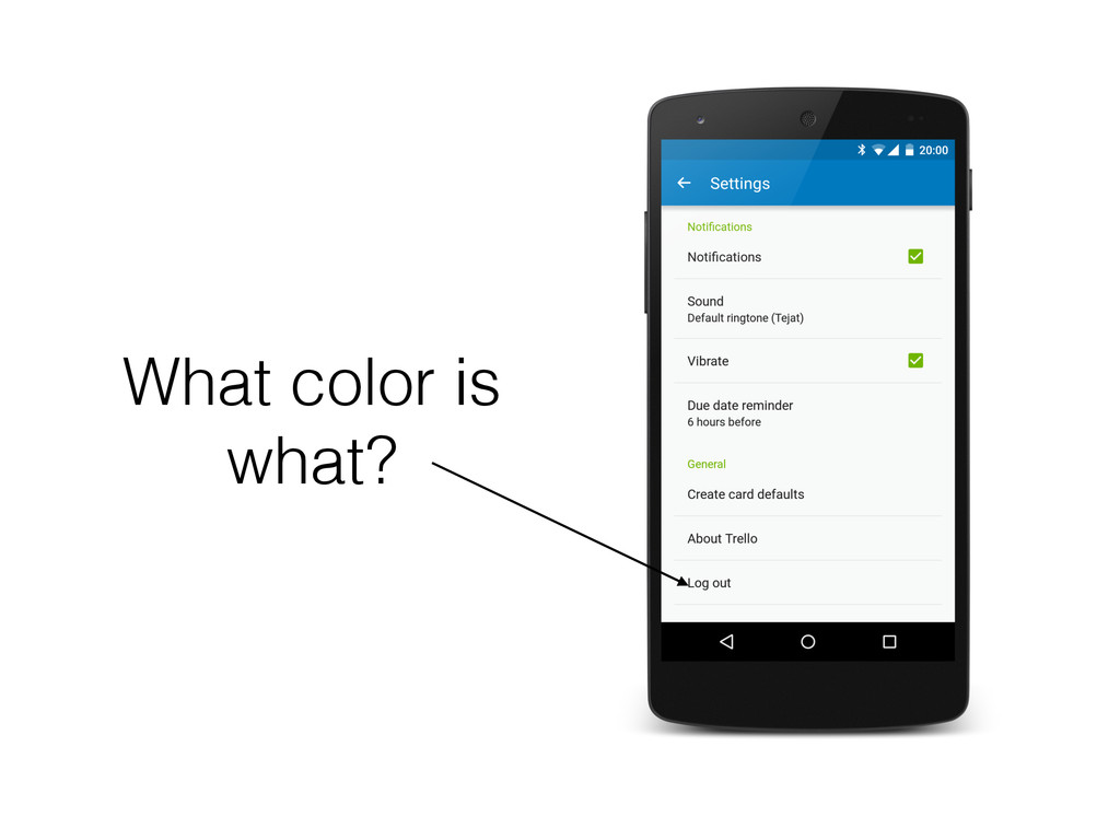 What color is what?