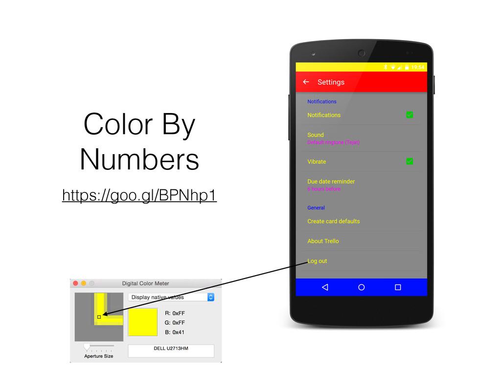 Color By Numbers https://goo.gl/BPNhp1