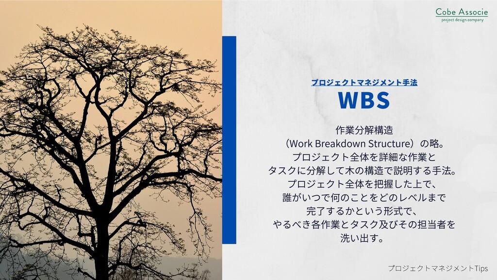 プロジェクトマネジメント⼿法 WBS 作業分解構造 (WorkBreakdownStruc...