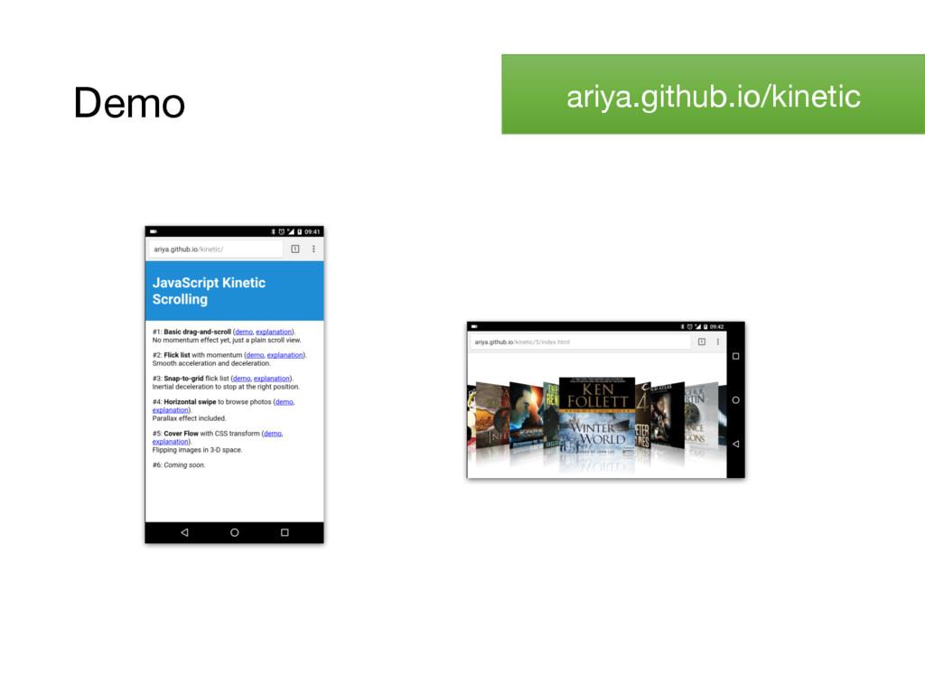 Demo ariya.github.io/kinetic
