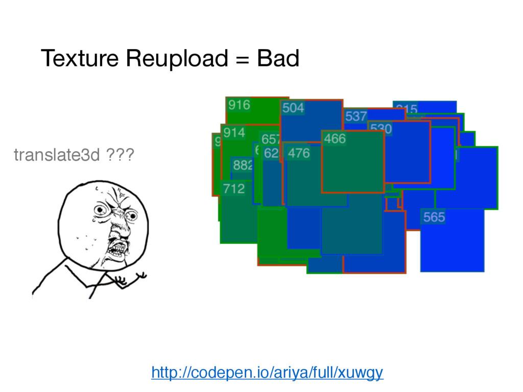 Texture Reupload = Bad http://codepen.io/ariya/...