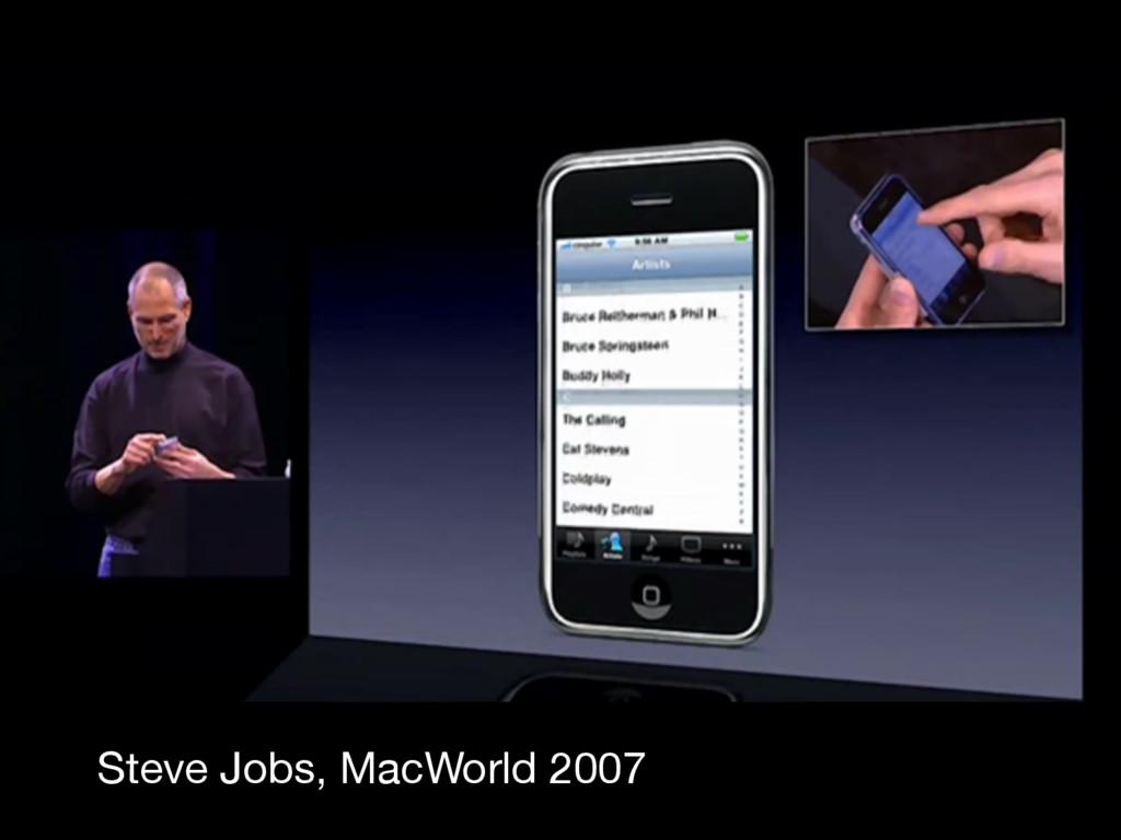 Steve Jobs, MacWorld 2007