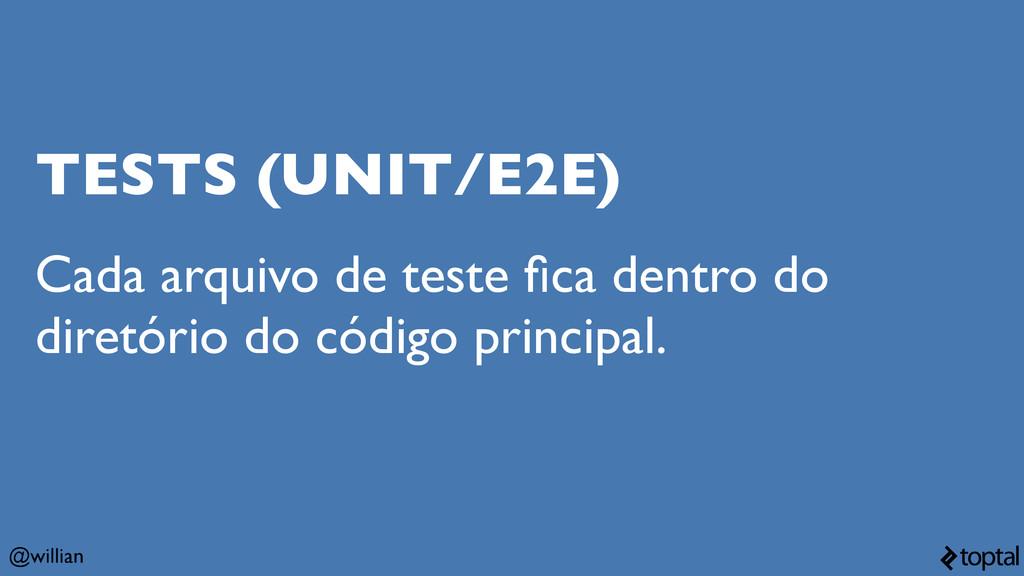 @willian TESTS (UNIT/E2E) Cada arquivo de teste...