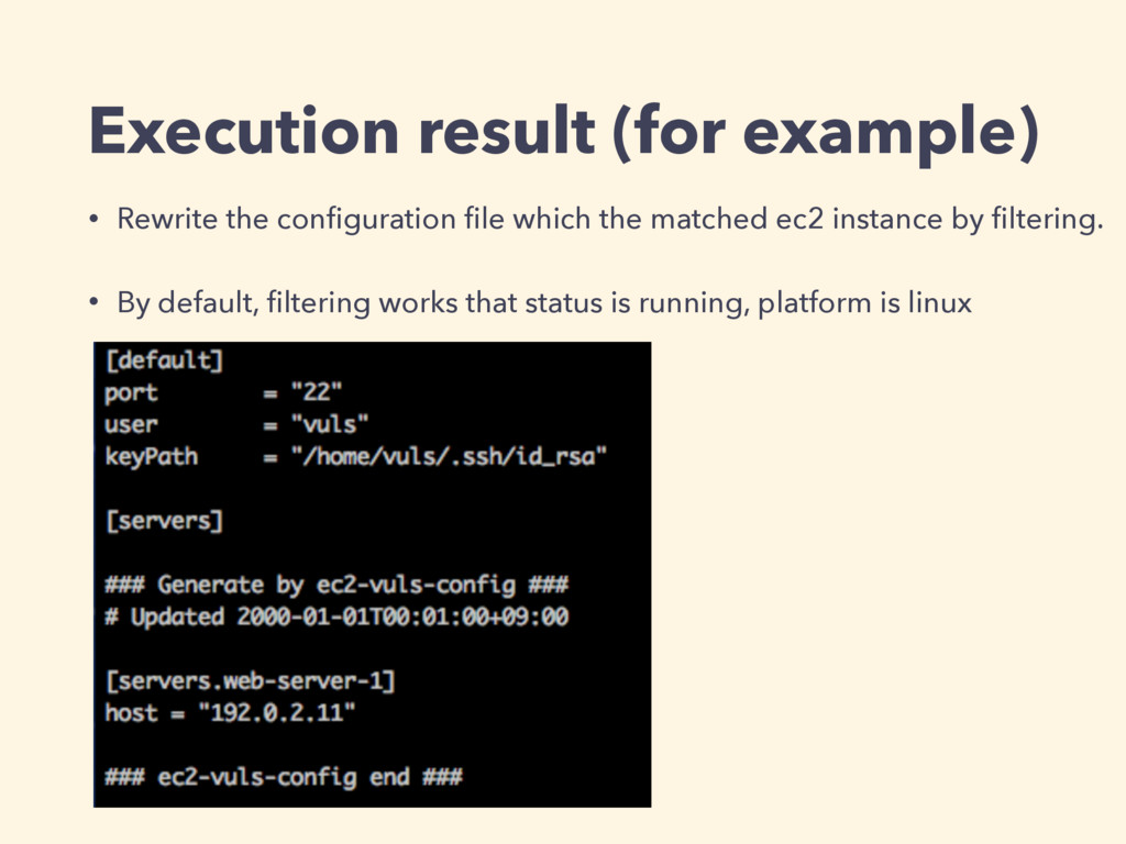 Execution result (for example) • Rewrite the co...