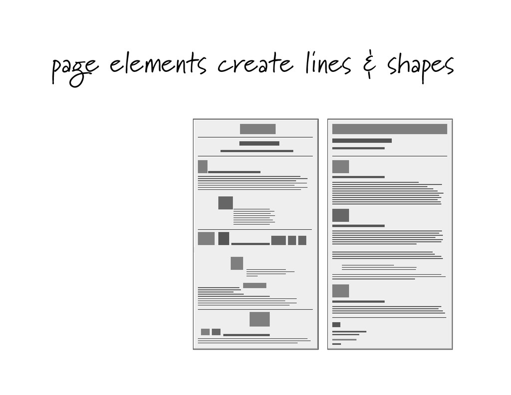 page elements create lines & shapes