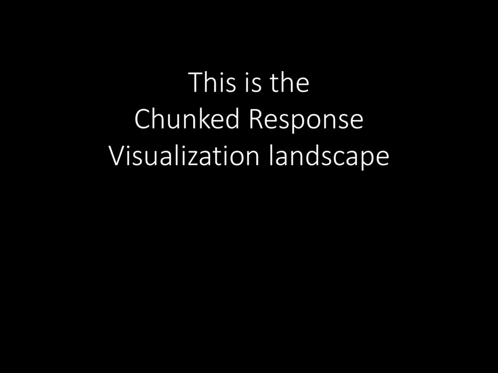 This is the Chunked Response Visualization land...