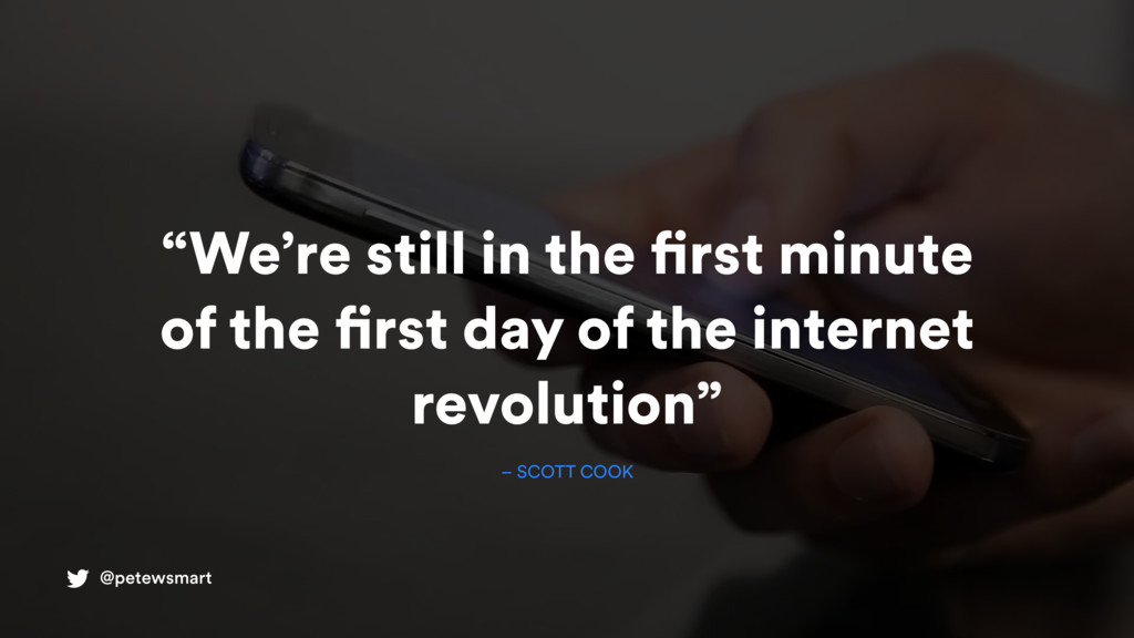 """@petewsmart """"We're still in the first minute of..."""