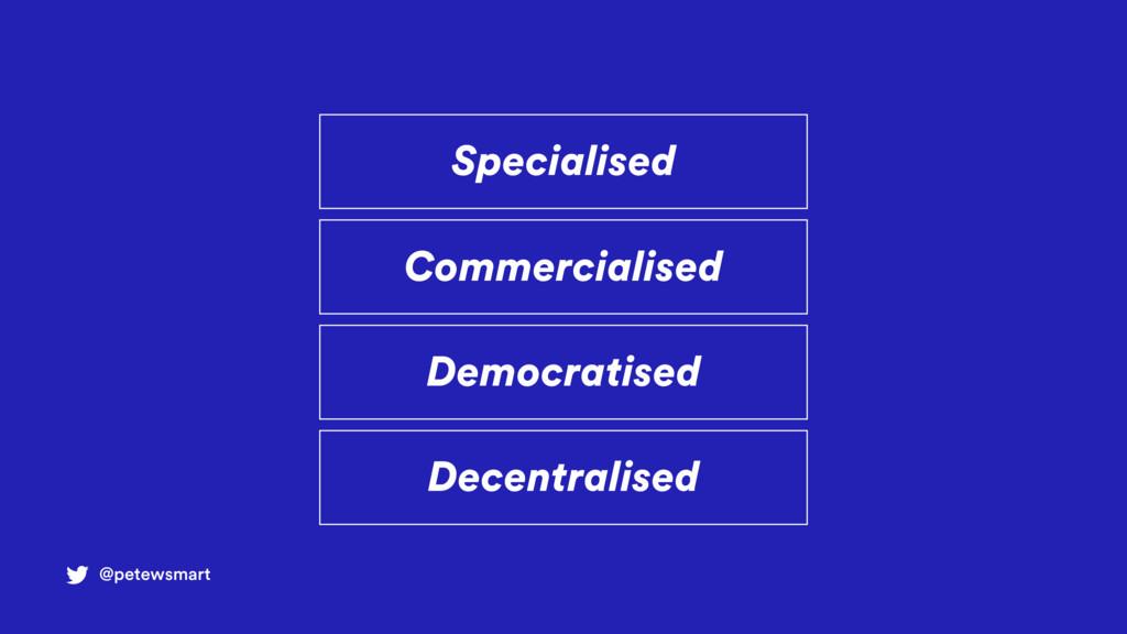 Specialised @petewsmart Commercialised Democrat...