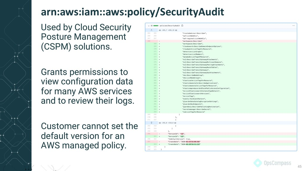 Used by Cloud Security Posture Management (CSPM...