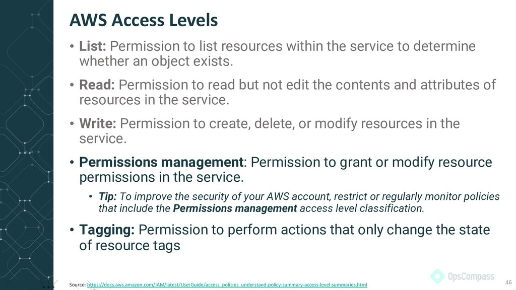 • List: Permission to list resources within the...