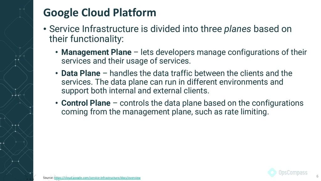 • Service Infrastructure is divided into three ...