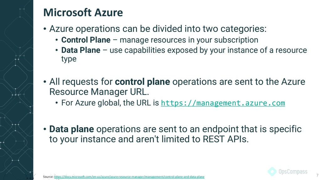 • Azure operations can be divided into two cate...