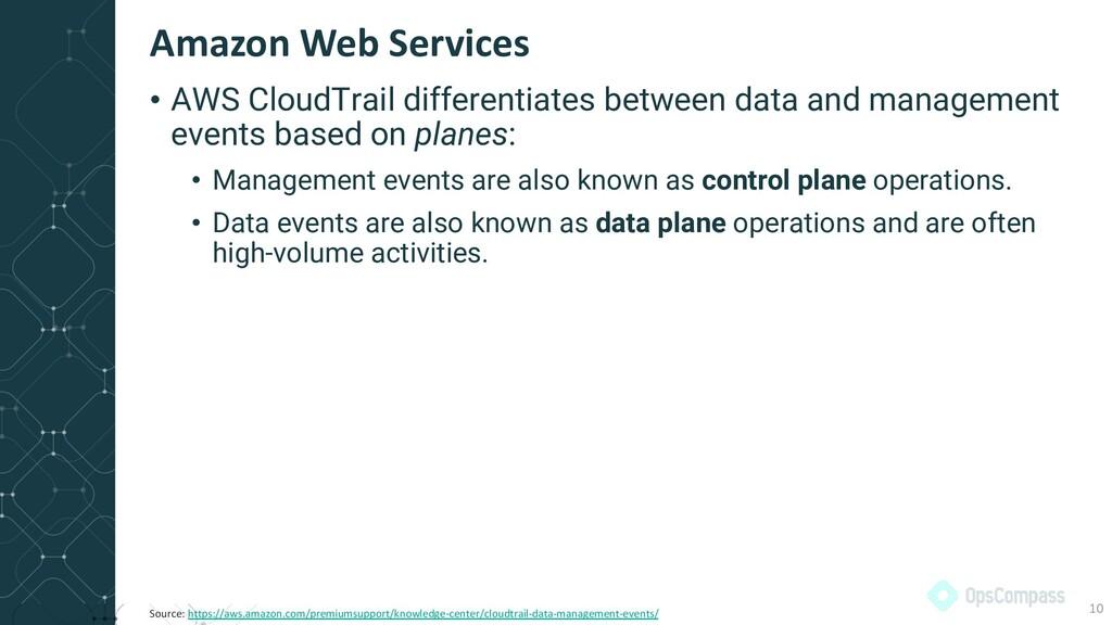• AWS CloudTrail differentiates between data an...