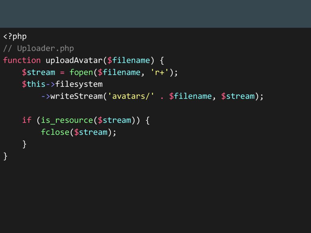 <?php // Uploader.php function uploadAvatar($fi...
