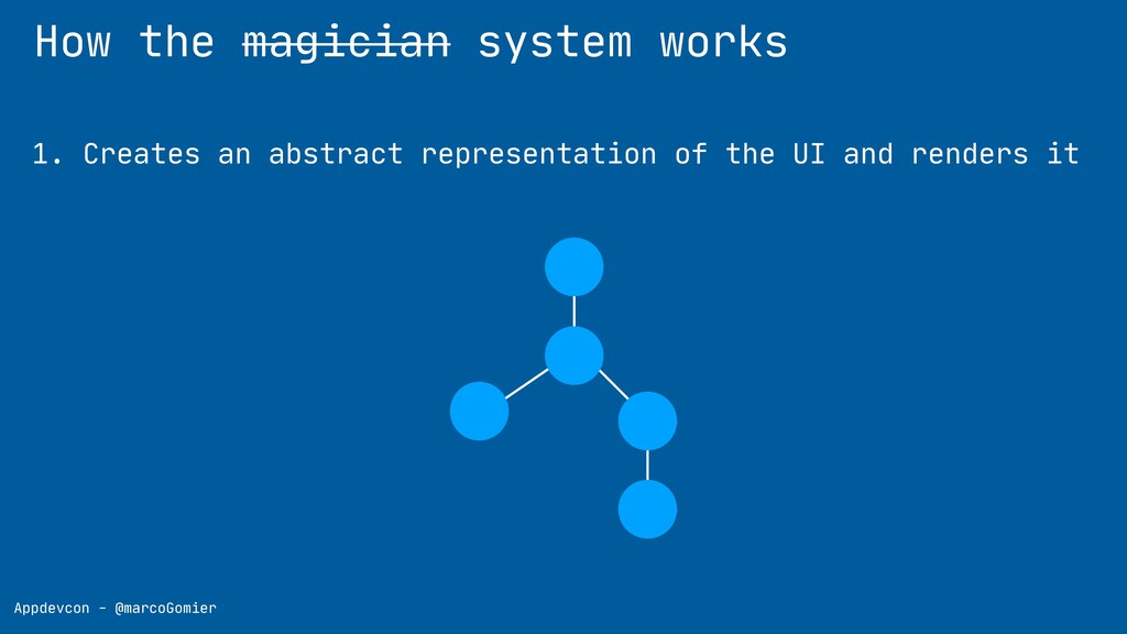 How the magician system works Appdevcon - @marc...