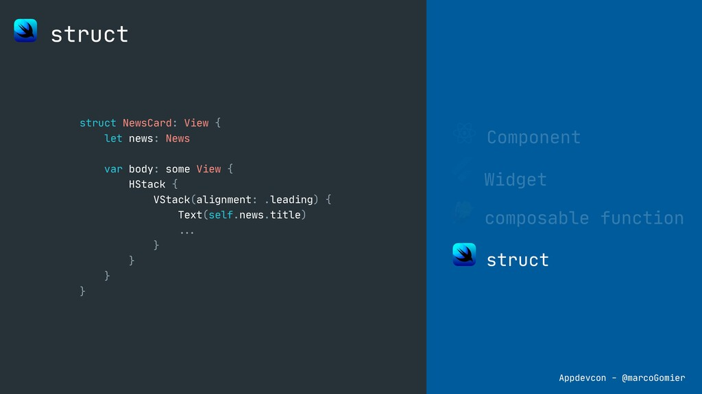 Component Widget composable function struct str...