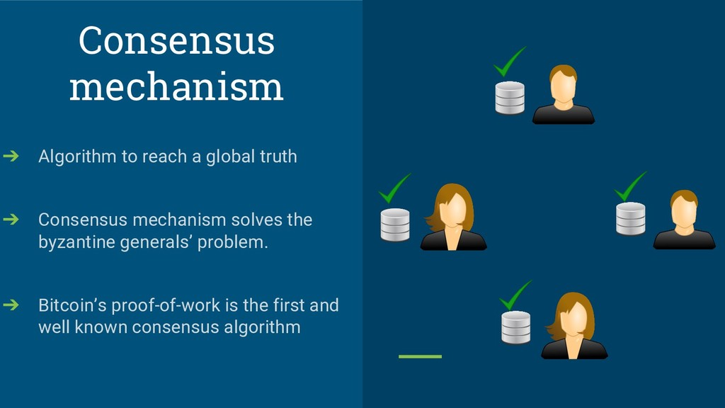 Consensus mechanism ➔ Algorithm to reach a glob...