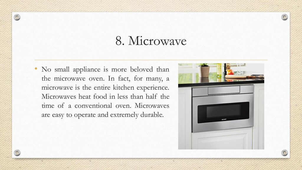 8. Microwave • No small appliance is more belov...