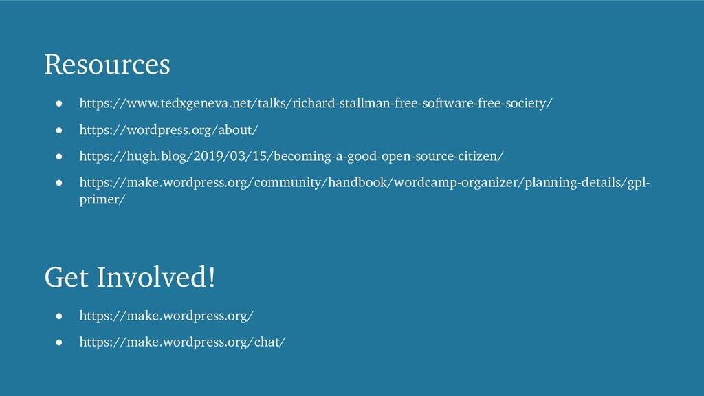 Resources ! https://www.tedxgeneva.net/talks/ri...
