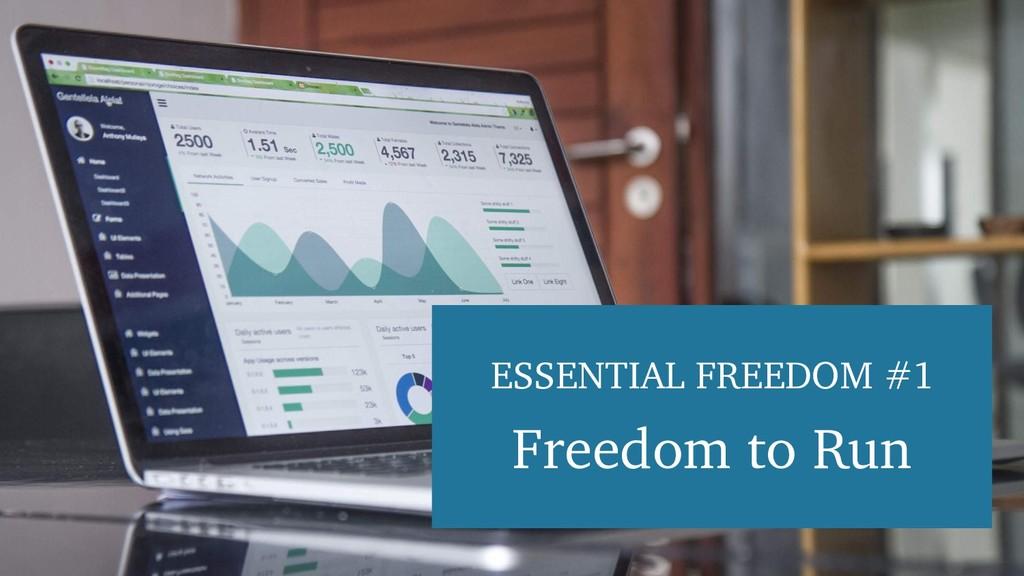 ESSENTIAL FREEDOM #1 Freedom to Run