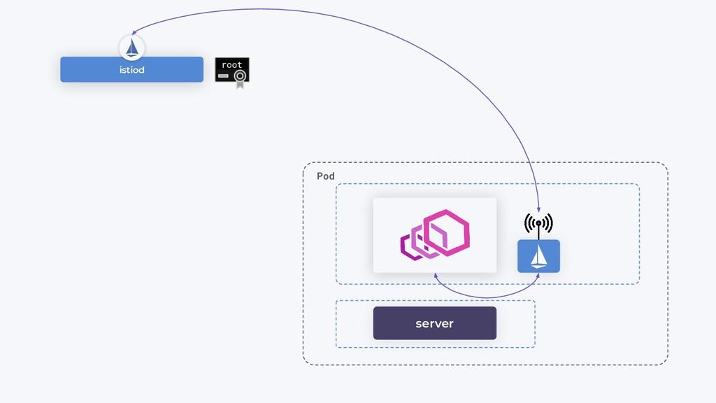 istiod root Pod server
