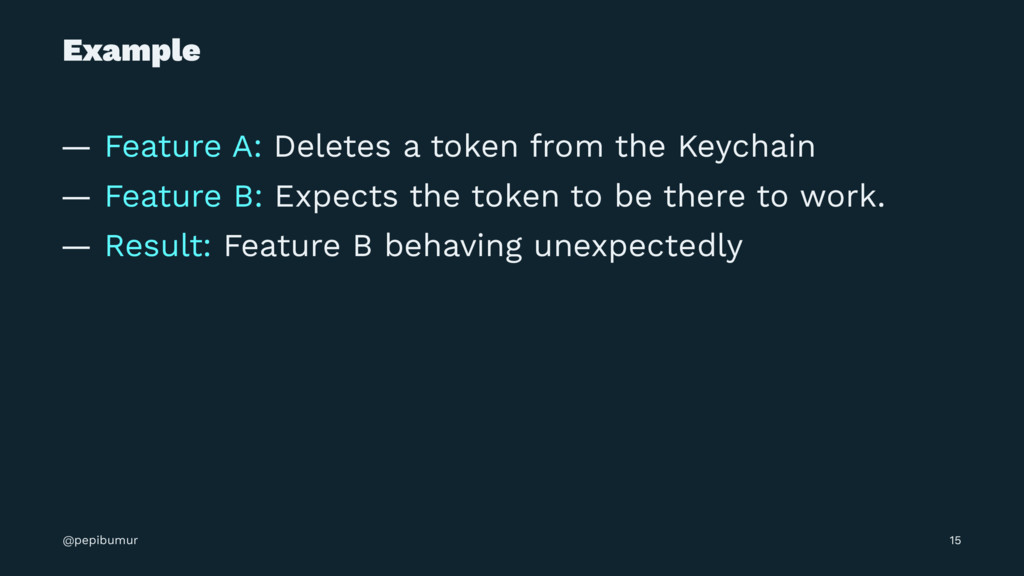 Example — Feature A: Deletes a token from the K...