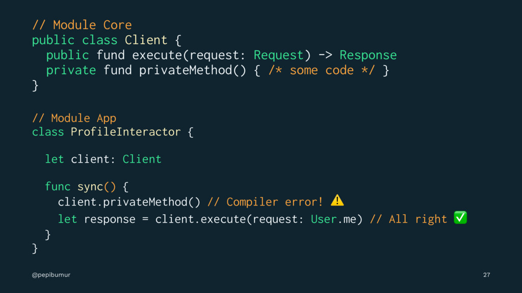 // Module Core public class Client { public fun...