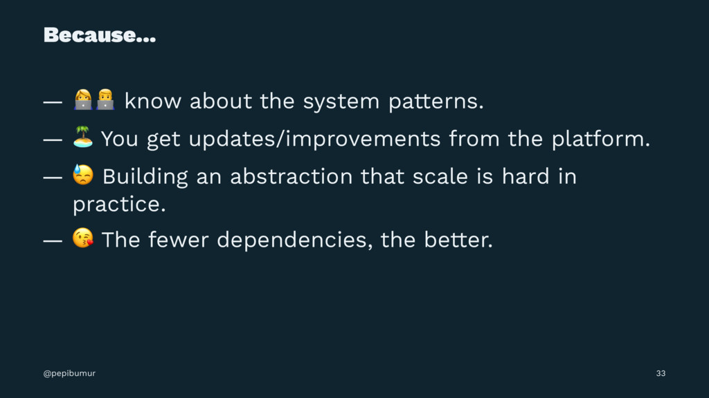 """Because... — !"""" know about the system patterns...."""