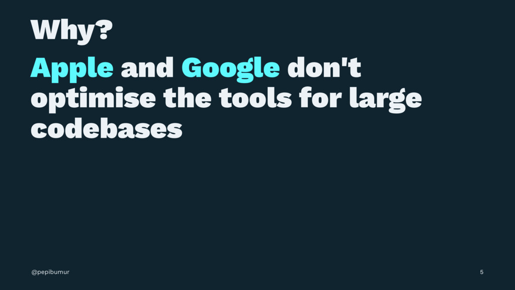 Why? Apple and Google don't optimise the tools ...