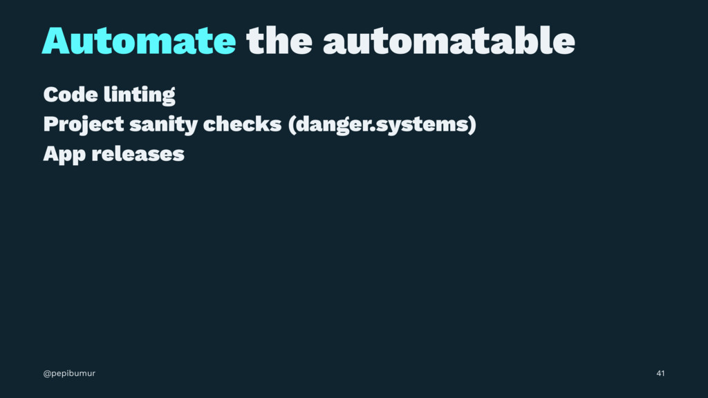 Automate the automatable Code linting Project s...