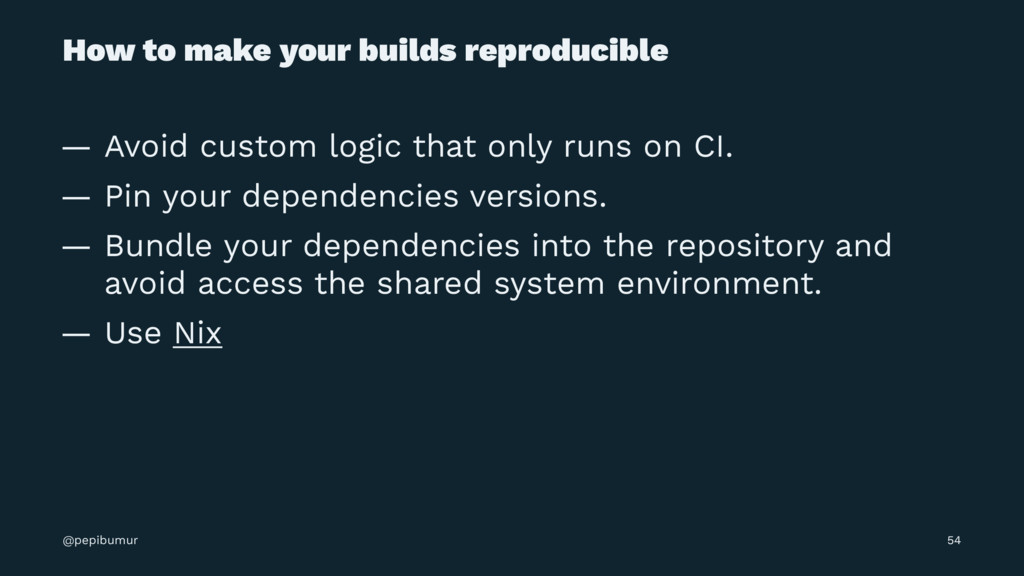 How to make your builds reproducible — Avoid cu...