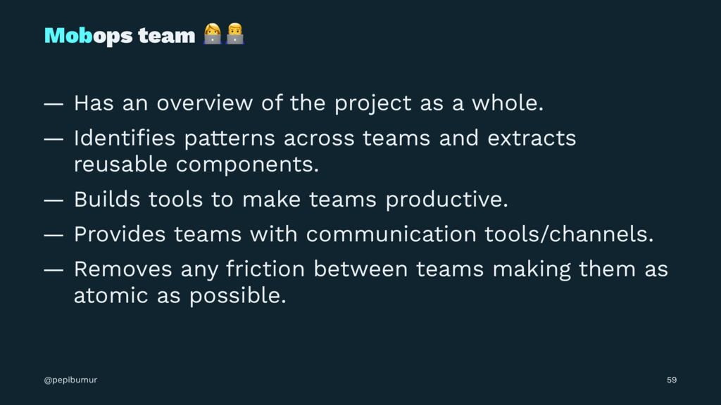 """Mobops team !"""" — Has an overview of the project..."""