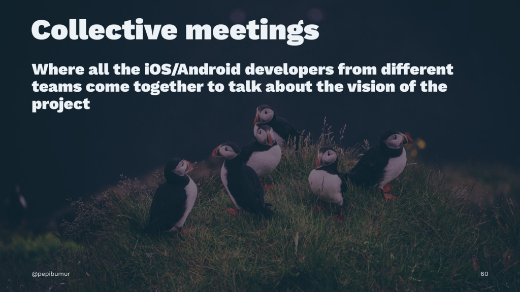 Collective meetings Where all the iOS/Android d...