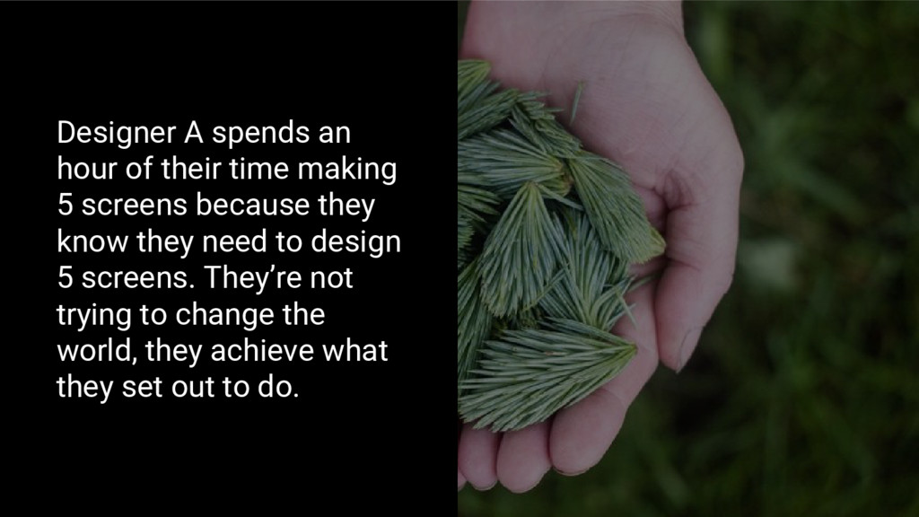 Designer A spends an hour of their time making ...