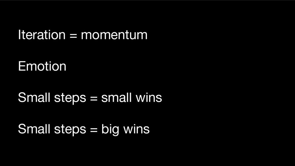 Iteration = momentum Emotion Small steps = smal...