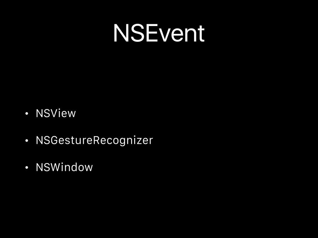NSEvent • NSView • NSGestureRecognizer • NSWind...