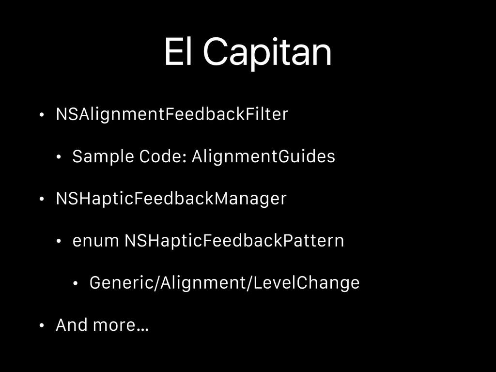 El Capitan • NSAlignmentFeedbackFilter • Sample...